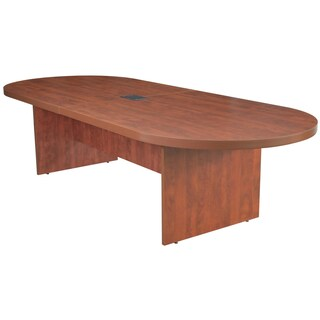 Regancy Seating 120-inch Race Track Conference Table with Power/Data Grommet (Option: Red - Cherry Finish)