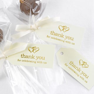 Ivory Linked at Heart Favor Cards