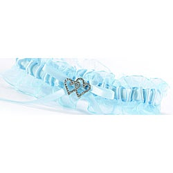 Blue Crystal All My Heart Garter