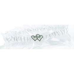 White Crystal All My Heart Garter