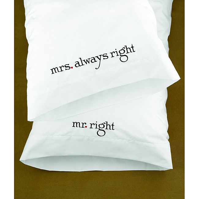 HBH Mr. & Mrs. Right Pillowcases