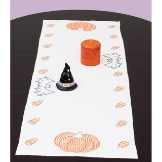 "Stamped Table Runner/Scarf 15""X42""-Halloween"