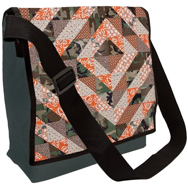 Camo Quilt Eco Messenger Bag