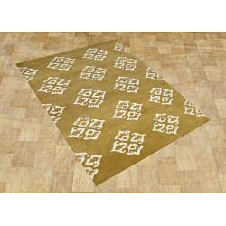 Alliyah Hand Made Tufted Harvest Gold Made In New Zealand Blend Wool Rug (5' x 8')