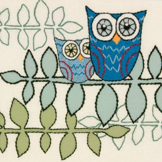 "Handmade Collection Owl Crewel Embroidery Kit-10""X10"""