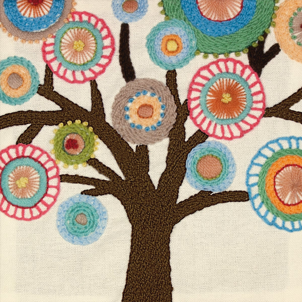 DIMENSIONS Handmade Collection Tree Crewel Embroidery Kit...