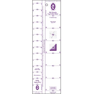 "Log Cabin Ruler-1"" To 2"" Strips"