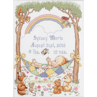 Our Little Blessing Birth Record Counted Cross Stitch Kit-10X13-1/2 14 Count