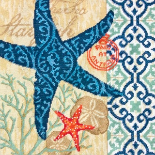 "Starfish Needlepoint Kit-14""X14"" Stitched In Wool & Thread"