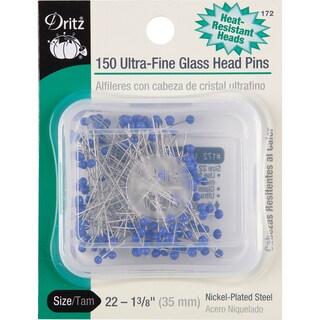 "Ultra-Fine Glass Head Pins-1-3/8"" 150/Pkg"