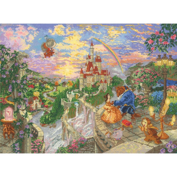 "Disney Dreams Collection By Thomas Kinkade Beauty & Beast-16""X12"" 18 Count"