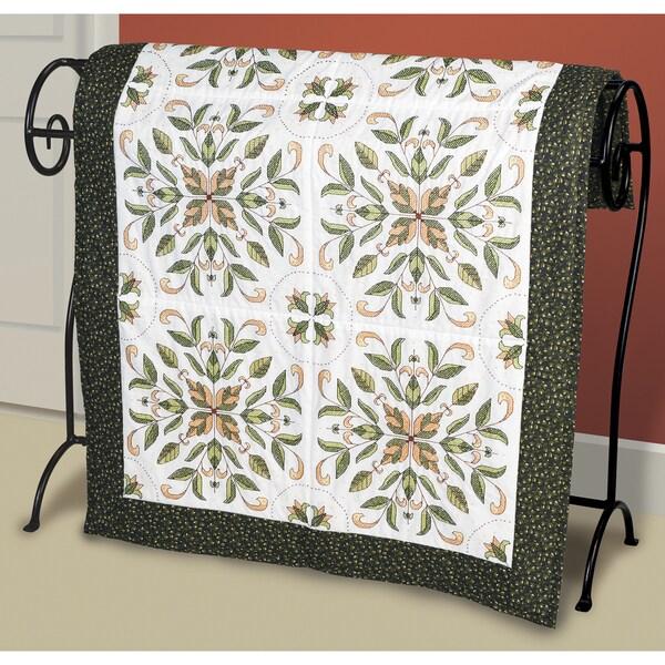 "Antique Foliage Quilt Blocks Stamped Cross Stitch-15""X15"" 6/Pkg"