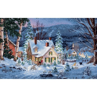 """Gold Collection Winter's Hush Counted Cross Stitch Kit-20""""X14"""" 16 Count"""