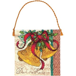 """Gold Collection Petites Bells Ornament Counted Cross Stitch -4.25""""x4.25"""" 18 Count"""