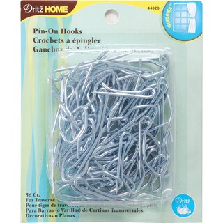 Dritz Home Pin-On Drapery Hooks (Pack of 56)