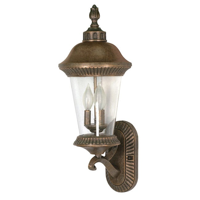 Clarion Arm Up 3-light Platinum Gold Wall Sconce