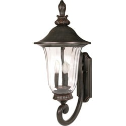 Parisian 3 Light Arm Up Old Penny Bronze Wall Sconce