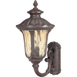 Beaumont 3 Light Arm Up Fruitwood Wall Sconce