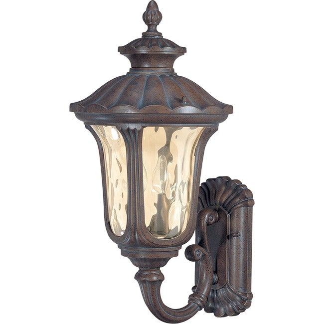 Nuvo Lighting Beaumont 2 Light Arm Up Fruitwood Wall Sconce