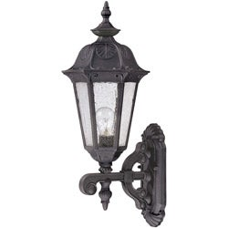 Cortland Arm Up 1-light Satin Iron Ore Wall Sconce