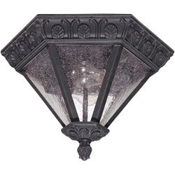 Cortland 2-light Satin Iron Ore Flush Mount