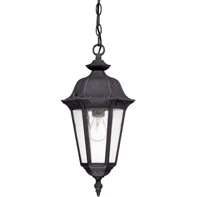 Cortland 1-light Satin Iron Ore Hanging Lantern