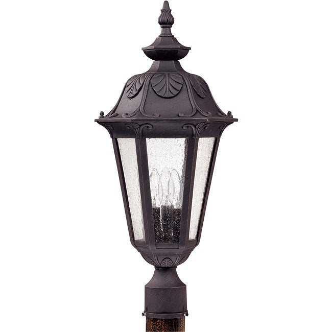 Cortland 3-light Satin Iron Ore Post Lantern