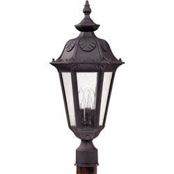 Cortland 3-light Satin Iron Ore Post Lantern