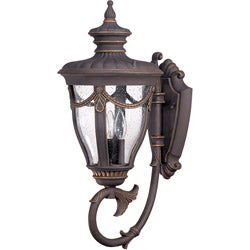 Philippe Arm Down 3-Light Belgium Bronze Transitional Wall Sconce