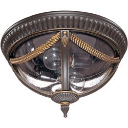 Philippe 2-light Belgium Bronze Flush Mount