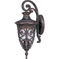 Aston Arm Down 3-light Dark Plum Bronze Wall Sconce