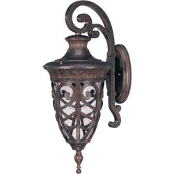 Aston Outdoor Arm Down 1-Light Dark Plum Bronze Wall Sconce