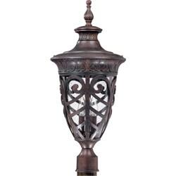 Aston 3-light Dark Plum Bronze Post Lantern