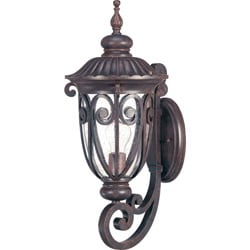 Corniche Arm Up 1-light Burlwood Wall Sconce