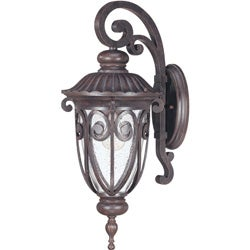Corniche Arm Down 1-light Burlwood Wall Sconce