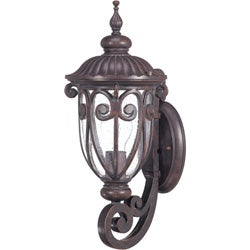 Corniche Arm Up 1-light Burlwood Small Wall Sconce