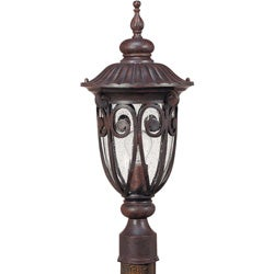 Corniche 1-light Burlwood Post Lantern