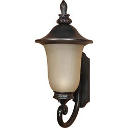 Parisian Arm Up 1-light Old Penny Bronze Wall Sconce