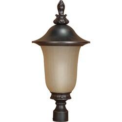Parisian 1-light Old Penny Bronze Post Lantern
