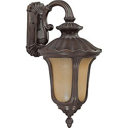 Beaumont 1 Light Arm Down Fruitwood Small Wall Sconce