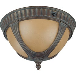 Beaumont 2 Light Fruitwood Flush Mount Light Fixture