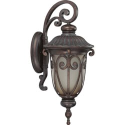 Corniche 1 Light Large Arm Down Burlwood Wall Sconce
