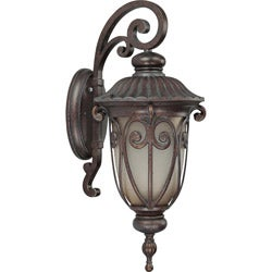 Corniche 1 Light Mid-Size Arm Down Burlwood Wall Sconce