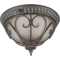Corniche 2 Light Burlwood Flush Mount