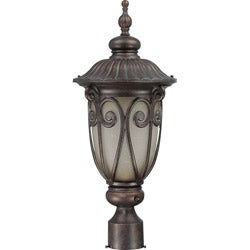 Corniche 1 Light Burlwood Post Lantern
