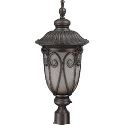 Corniche 1 Light Large Burlwood Post Lantern