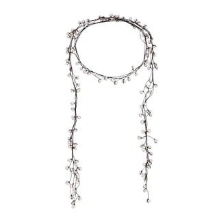 Handmade White Allure Freshwater Pearl Wrap Lariat Necklace/ Belt (Thailand)