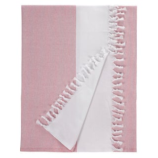 Turkish Cotton Red Stripe Fouta Bath/ Beach Towel
