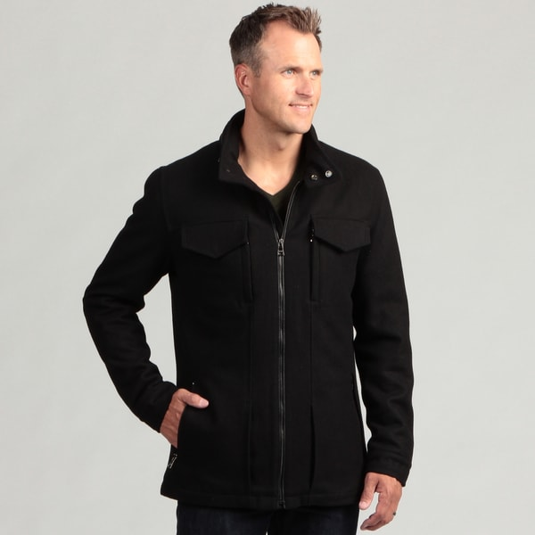 Izod Men's Wool Zip-up Jacket