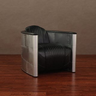 Accelerator Black Leather Chair